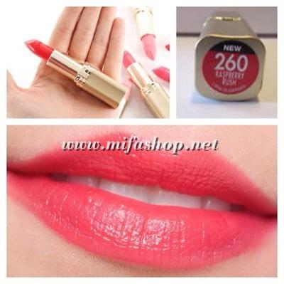 Son môi L'Oreal Colour Riche 260 - Raspberry Rush