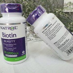 Viên uống mọc tóc natrol biotin 10000mcg Mỹ 100 viên chính hãng