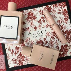Bộ quà tặng nước hoa gucci bloom 100ml, lotion 100ml, mini 7.4ml