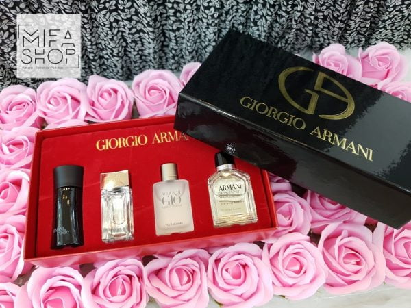Bộ quà tặng nước hoa nam giorgio armani 4 chai
