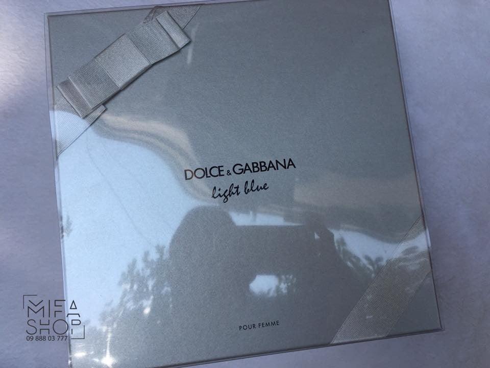 BỘ QUÀ TẶNG NƯỚC HOA NỮ DOLCE & GABBANA LIGHT BLUE EDT 100ML