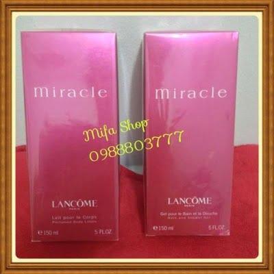 Bộ Sữa tắm và dưỡng thể Lancome Miracle 150ml
