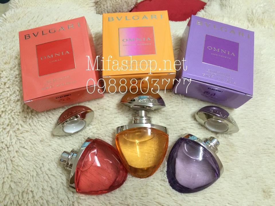 Bộ sưu tập nước hoa Bvlgari Omnia Jewel Charms 3 chai 15ml full bõ