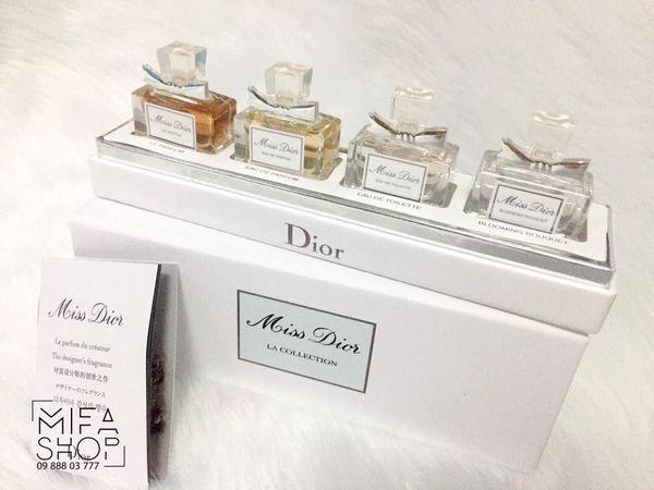 Bộ quà tặng nước hoa dior miss dior 4 chai mini 5ml