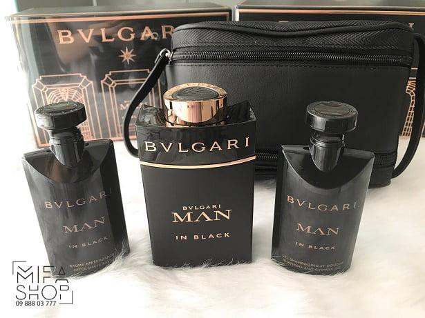 Giftset Nước Hoa Bvlgari Man In Black Pour Homme 100ml