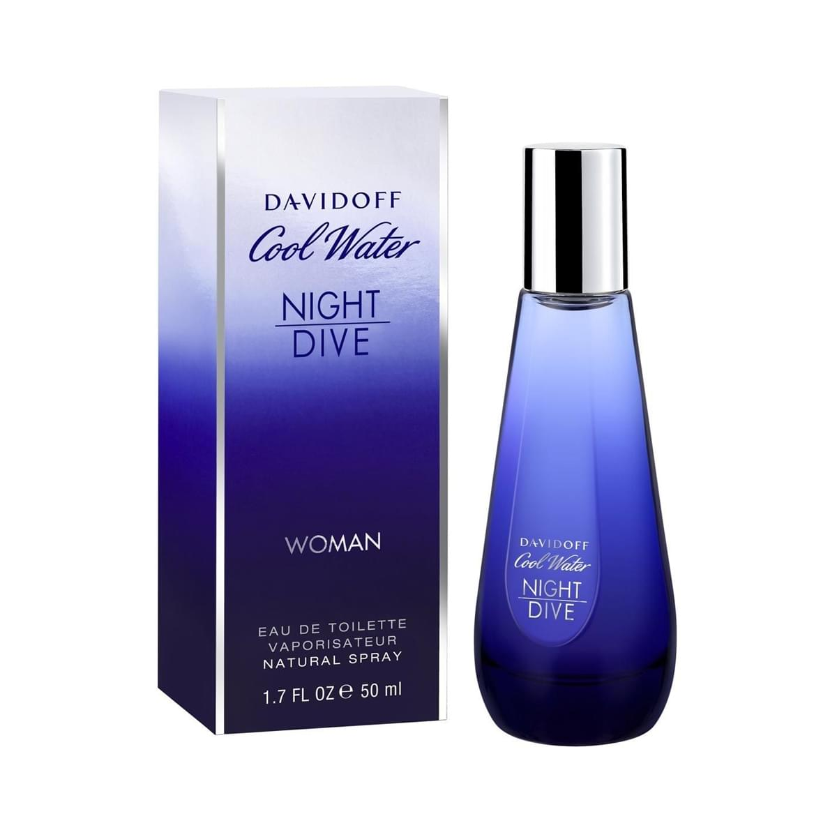 Nước hoa DAVIDOFF Cool Water Night Dive Woman EDT 50ml - Cảm giác mát lạnh