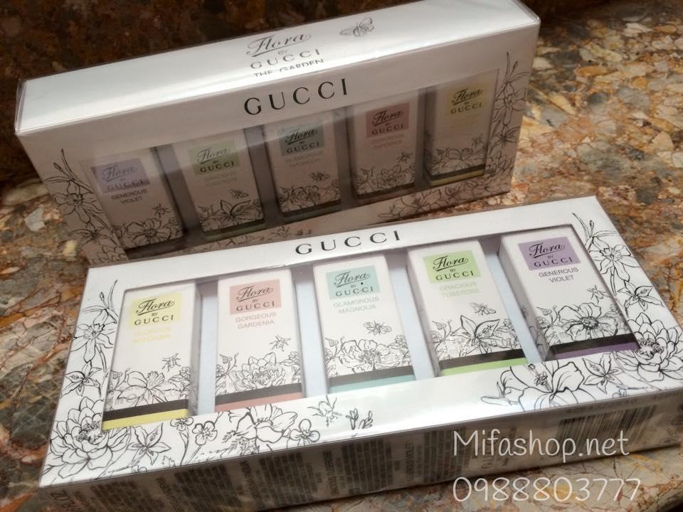 set gucci flora 5ml.