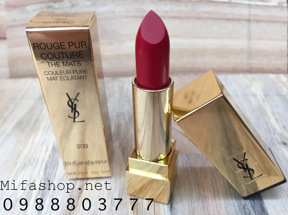 SON YSL ROUGE PUR COUTURE THE MATS 203 - ROUGE ROCK