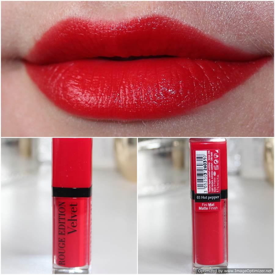 son môi Bourjois Rouge Edition Velvet 03 Hot Pepper