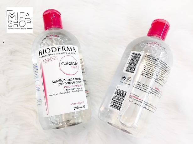 Tẩy trang Bioderma Sébium H2O Màu Hồng