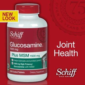 thuốc bổ khớp mỹ glucosamine Schiff 1500mg 200v