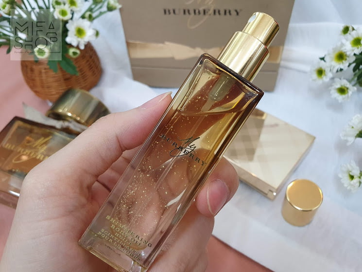 Dầu dưỡng da shimmering body oil my burberry 30ml