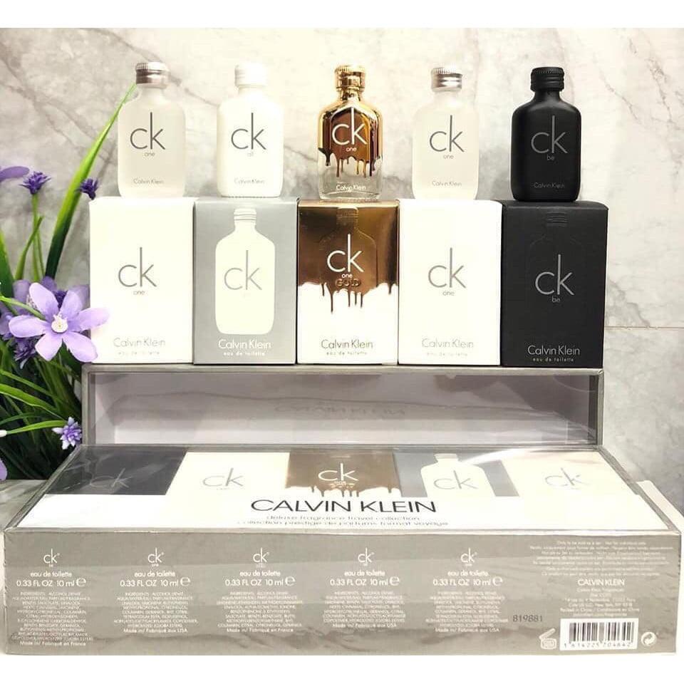 Bộ quà tặng set 5 chai nước hoa Calvin Klein mini 8ml chính hãng