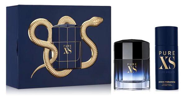 Bộ quà tặng nước hoa và xịt khử mùi nam Paco Rabanne Pure XS Eau de Toilette chính hãng