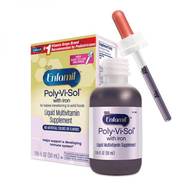 Vitamin tổng hợp cho bé Enfamil Polyvisol Multivitamin With Iron For Infants Toddlers chính hãng