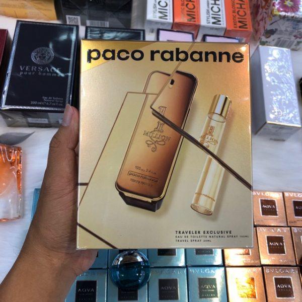 Bộ quà tặng nước hoa Paco Rabanne 1 Milkion chính hãng