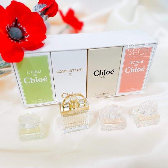 Bộ quà tặng nước hoa Chloe 4 chai mini chính hãng