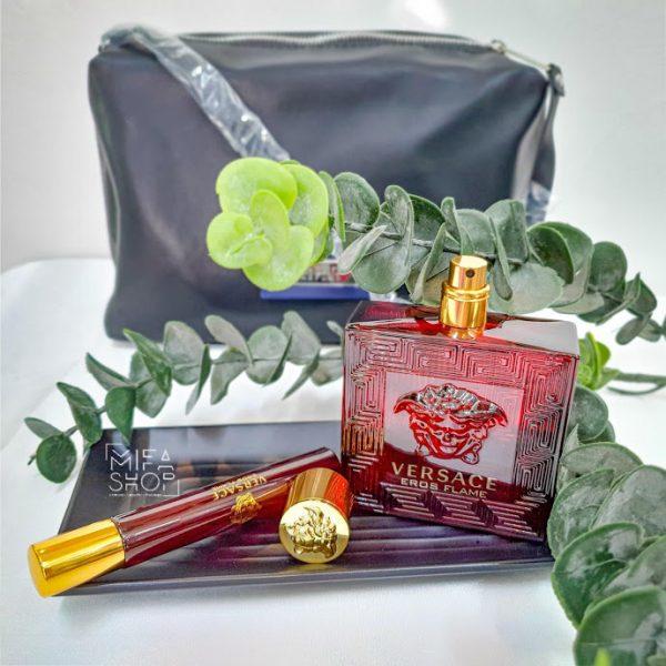 Bộ quà tặng nước hoa versace eros flame 100ml, 10ml, túi xách