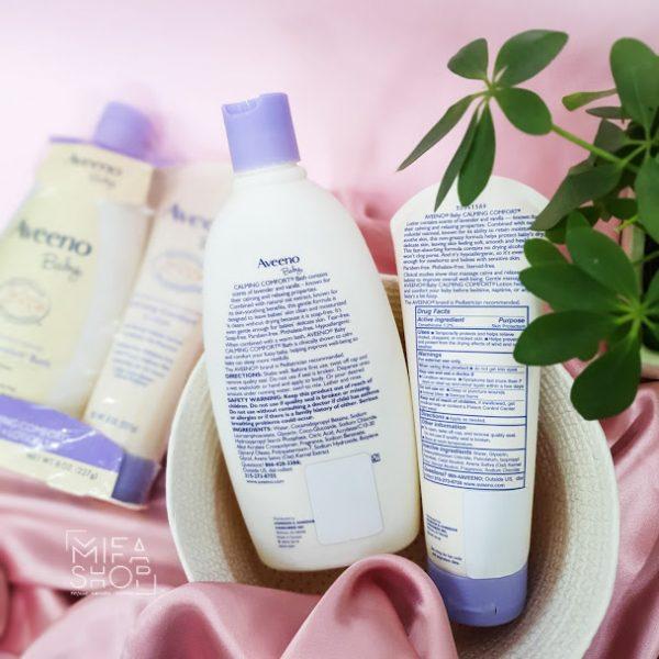 Bộ sữa tắm gội và dưỡng thể Aveeno Baby 4