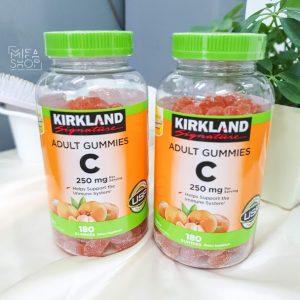 Kẹo dẻo bổ sung Vitamin C Kirkland Adult Gummies C 250mg 180 viên