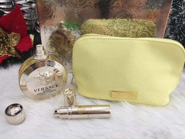 Bộ quà tặng nước hoa versace eros nữ 100ml, túi xách, mini 10ml
