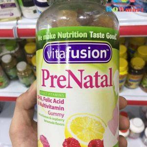 Kẹo bổ sung vitamin dành cho bà bầu Vitafusion PreNatal 180 viên chính hãng