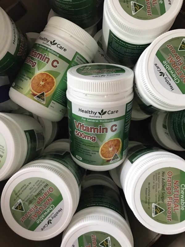 Viên uống bổ sung vitamin C Healthy Care Vitamin C 500mg 500 viên chính hãng