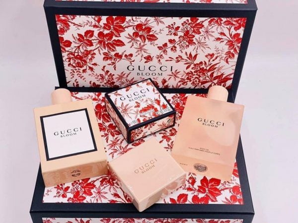 bộ nước hoa gucci bloom 100ml, lotion 100ml, body oil 100ml