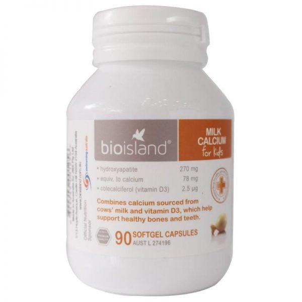 Bio Island Milk calcium - Sữa bổ sung canxi cho bé 90 viên Mifashop