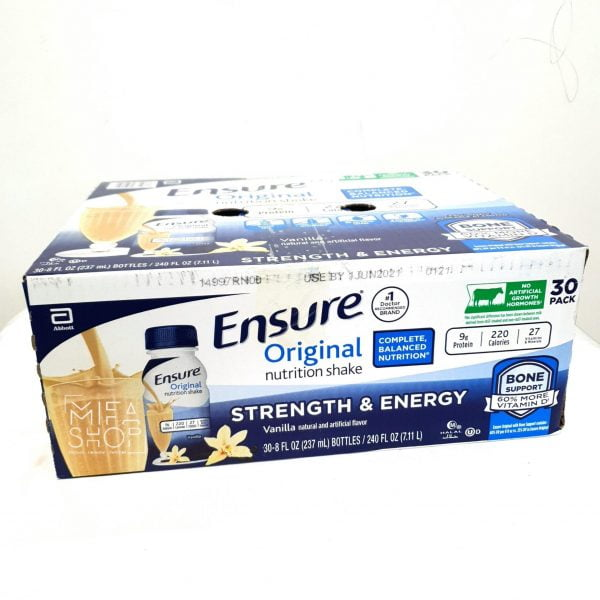 Sữa Nước Abbott Ensure Original Nutrition Shake Chai 237ml