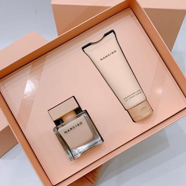 Bộ quà tặng nước hoa narciso pourdree 50ml, dưỡng thể 75ml