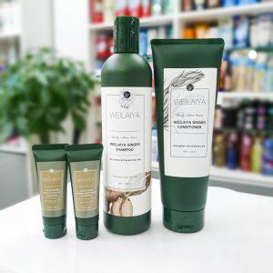 Bộ Gội Xả Gừng Weilaiya Ginger Shampoo 400ml, xả 250ml
