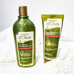 Bộ Quà Tặng Dầu Gội và Dầu Xả D'Olive Color Protection Dalan