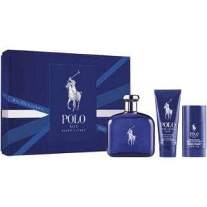 Bộ Quà Tặng Nước Hoa Polo Blue Ralph Lauren 125ML, Gel tắm gội 100ML và Lăn Khử Mùi 75GR