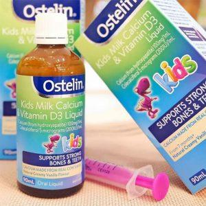Kids Milk Ostelin Calcium và Vitamin D3 Liquid 90ml