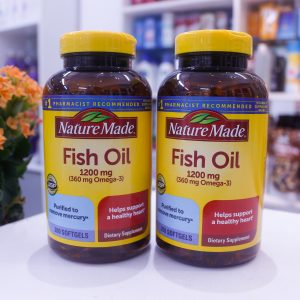 Dầu Cá Omega-3 Fish Oil Nature Made 1200mg