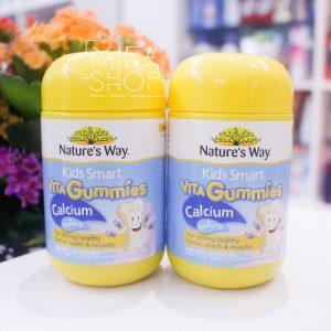 Kẹo dẻo bổ sung Canxi cho trẻ Nature's Way Vita Gummies Calcium 60 Viên