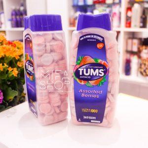 Kẹo ngậm giảm đầy hơi Tums Antacid Ultra Strength 1000