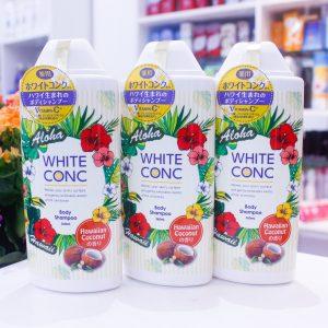 Sữa tắm trắng Body Wash White Conc Aloha version 360ml