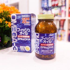 Viên uống bổ mắt Omega3 Orihiro 180 viên